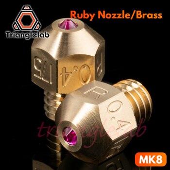 Trianglelab MK8 rubi bico 1.75 MILÍMETROS Compatível com especial de alta temperatura materiais PEEK PEI PETG ABS NYLON etc bocal ruby