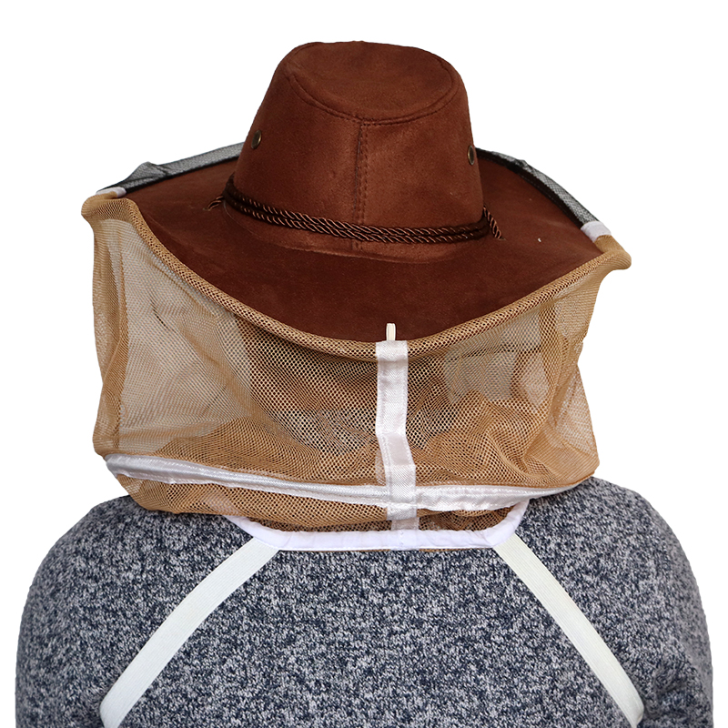 Image 4 - Beekeeping Hat Beekeeper Cowboy Hat Mosquito Bee Net Veil Full Face Neck Cover Outdoor Bug Mesh Mask Head Protective Cap-in Protective Clothing Accessories from Home & Garden