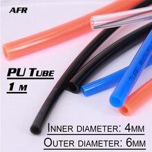 цена на 1M PU Tube PU6x4 6mmx4mm Air Hose Pipe Polyurethane Tubing OD 6mm ID 4mm high quality Pneumatic Component for Compressor