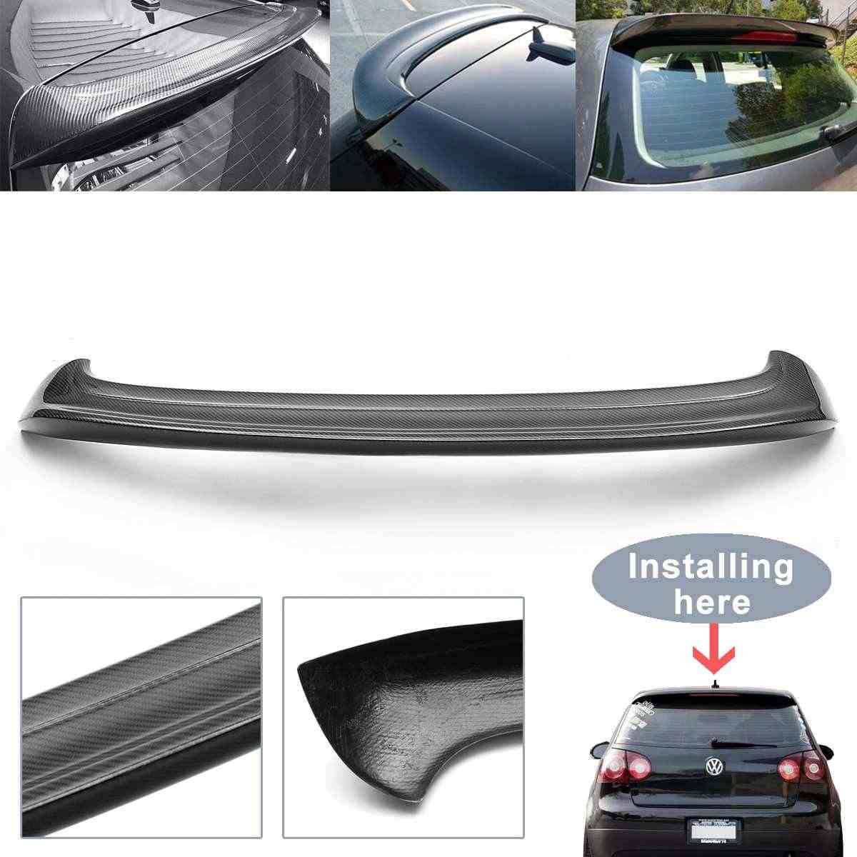 Полностью из углеродного волокна задний спойлер на крыше крыло губы для Volkswagen VW