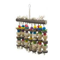 Большие попугаи грызут на подставке и уничтожают игрушки для птиц, подходящие для крупных и средних попугаев с сильной разрушительной спос...