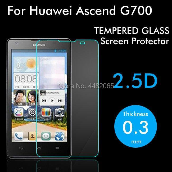 2pcs For Huawei Ascend G700 Tempered Glass 9H Protective Film Explosion-proof Screen Protector For Huawei G700 Safety Guard