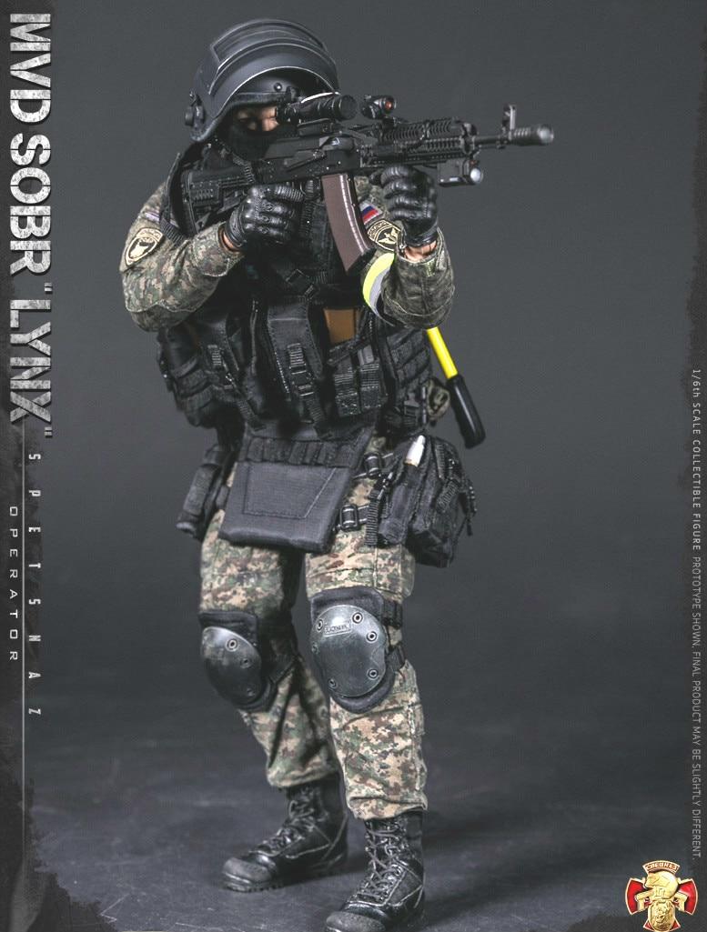 "DAMTOYS DAM 78058 1//6 Russian Spetsnaz MVD SOBR LYNX /""O/"" TACTICAL GLOVES MODEL"