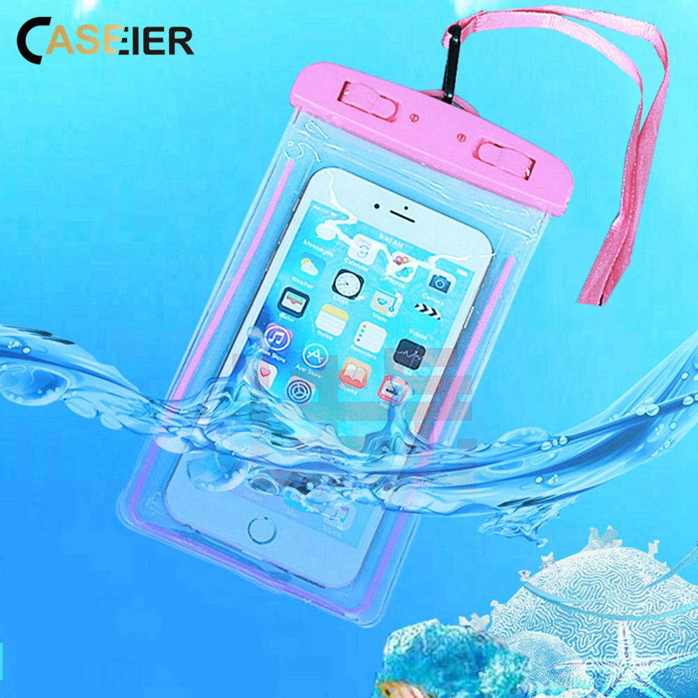 Caseier Universal Waterproof Phone Case Photography Protective Bag Underwater Waterproof Pouch For Iphone Samsung Huawei Xiaomi