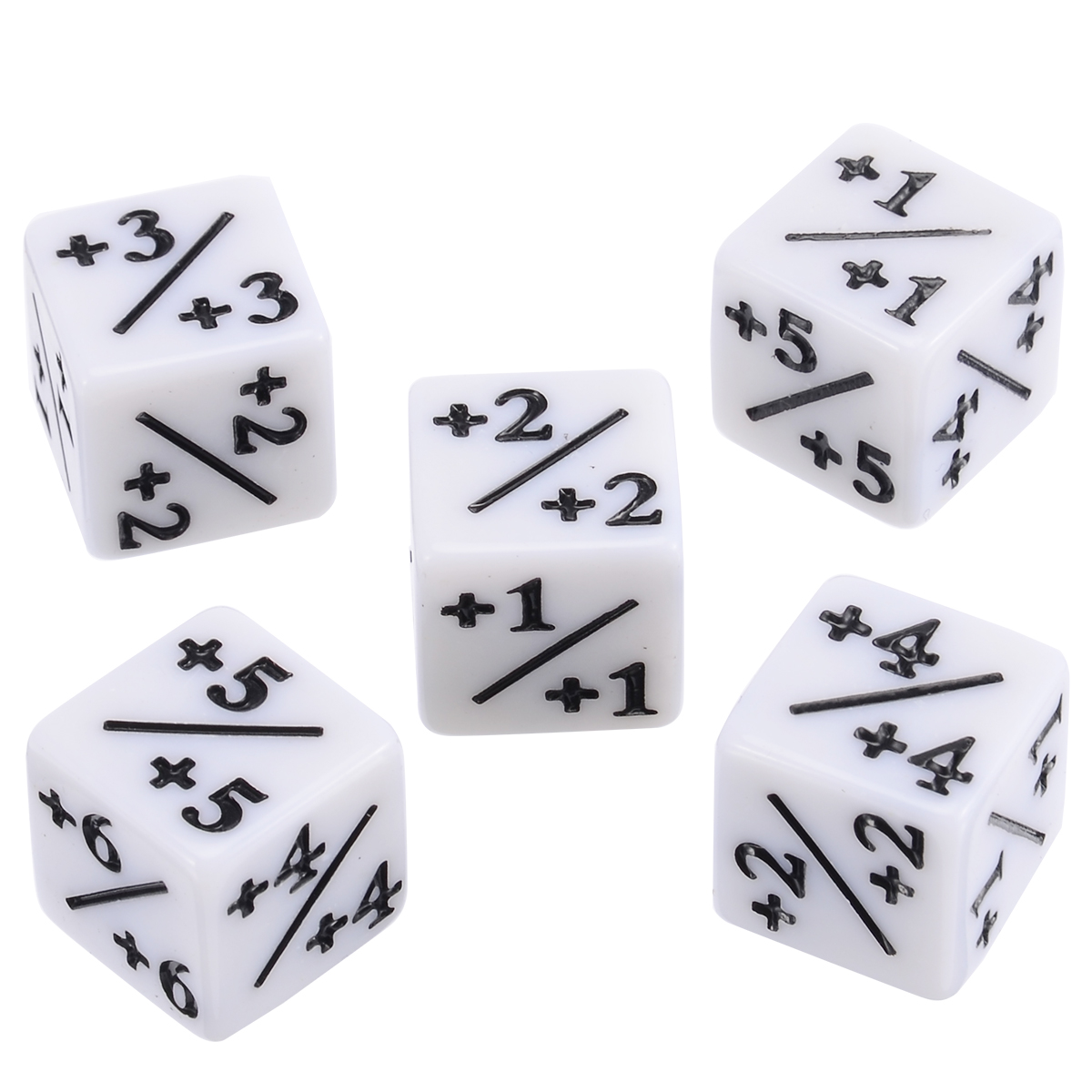 5pcs Negative 1 1 Dices White Dice Counters For Magic Gaming The Gathering MTG Games Interesting Outdoor Party Activities Tool in Dice from Sports Entertainment