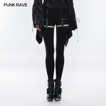 Punk Rave Women Pants Daily Casual Black Sexy Hollow-out Stretch Hip Hop Streetwear Legging for