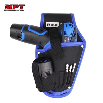 High Quality Electric Drill Waist Tool Bag Portable Cordless Holder Pouch Toolkit Electrician Screwdriver Tools Organizer Bags polyester screwdriver drill storage tool bag toolkit waist pack waist strap 600d polyester electric cordless drill holder waist
