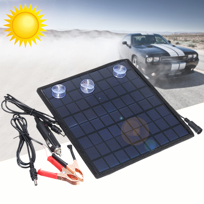 Solar Panel Car Charger 12V Battery Charger Solar Maintainer Charger for 12V Battery of Car Automobile Motorcycle