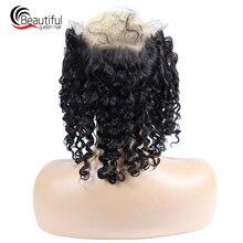 Красивые Индийские человеческие волосы королевы, 360, кружевные фронтальные 22x4, глубокая волна, предварительно сорванные с волосами младенца, часть, волосы remy естественного цвета