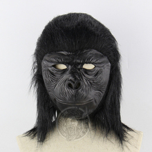 Gorilla Mask Costume Adult Animals Cosplay Halloween For Men Latex