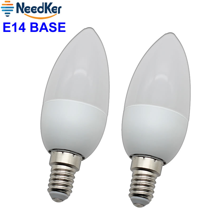 3W 5W  Led Candle Bulb E14 Led Light SMD2835 Led Chandlier Crystal Lamp Ampoule Bombillas Lighting Warm Cold White Ac 220V 240V