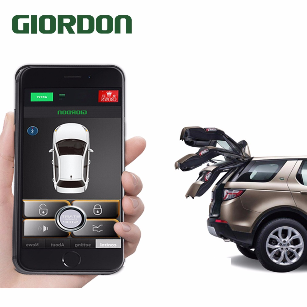 Keyless Entry Zentral Locking Push-Taste Zündung Türschloss Universal Auto Alarm SmartPhonePKE Control Car Alarm System 686B