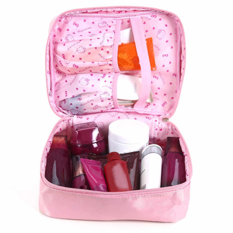 85ed0a15f381 ... Mihawk Girl s Hello Kitty Cosmetic Bag Cute Travel Makeup Organizer  Case Beautician Beauty Suitcase Accessories Supplies ...