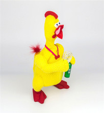 Electric Screaming Cock Chicken Drinking Beer Karaoke Duck Crying Singing Dancing Prank Funny Weird Novel Grotesque Plush Toys