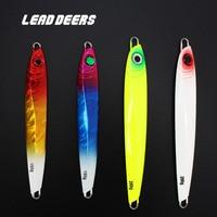 Leaddeers High Quality Jig Metal Jigging Lures Glow Lead Fishing Jigs Ocean Boat Fishing Lures Sea 150 200g 4 colors 4pcs/Lot