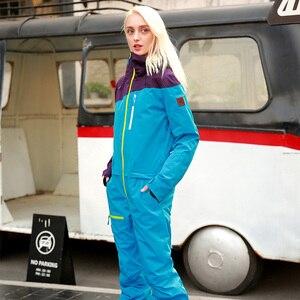 Image 5 - RUNNING RIVER Brand Waterproof Jacket For women Snowboard Suit women Snowboard Jacket Female Snowboarding Set Clothing #B8091