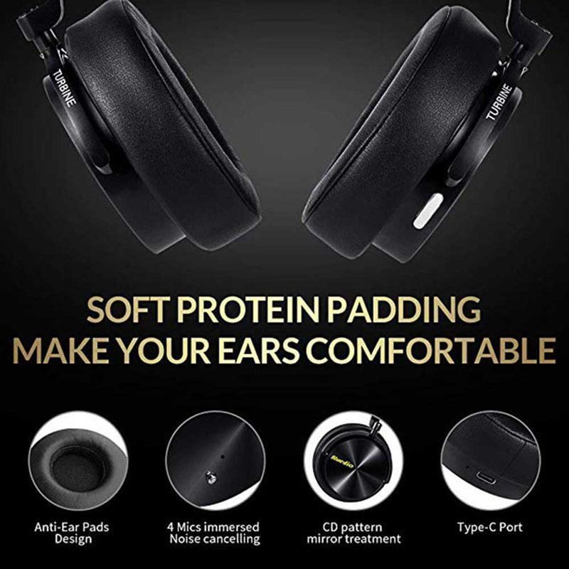 Nouveau casque de mode Bluedio réduction de bruit Active casque de sport sans fil Bluetooth casques stéréo portables basse avec micro - 2