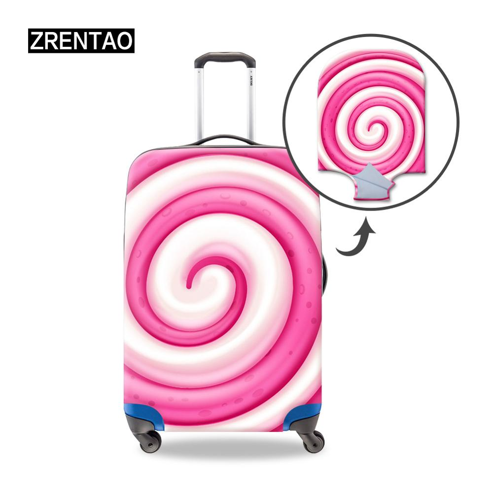 Spiral Elastic Travel Luggage Cover,Double Print Fashion Washable Suitcase Protector Cover Fits 18-32inch Luggage
