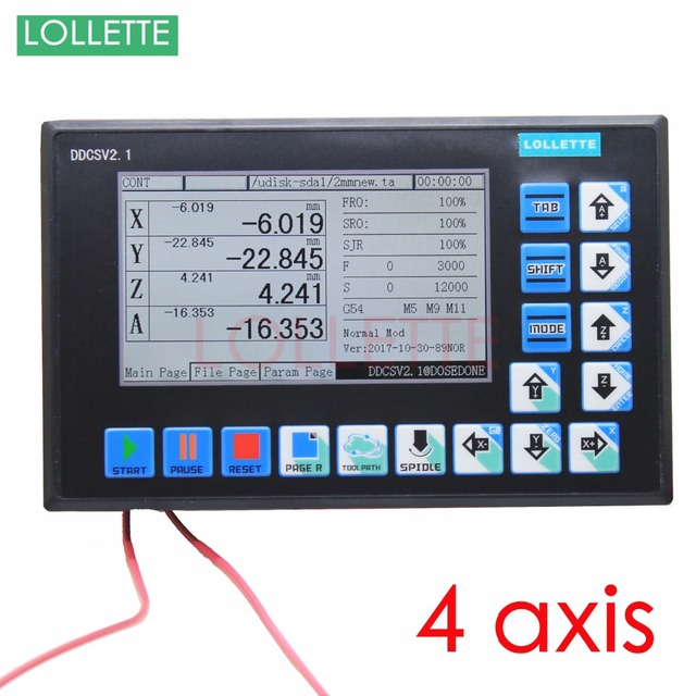 DDCSV2.1 CNC 4 Axis Offline Stand alone controller replace  USB Motor controller Engraving Drilling Milling Machine 500KHz