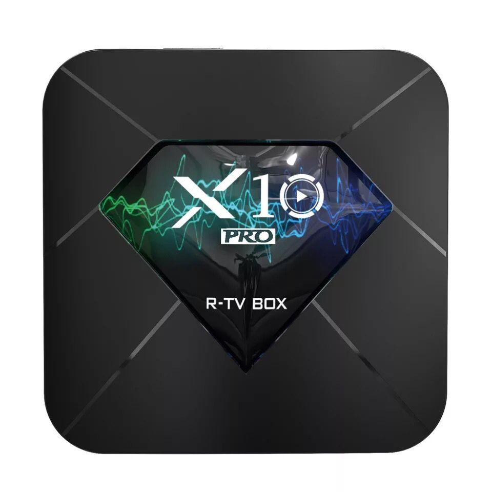 LEORY R-TV X10 PRO 4 GB 32 GB S905X2 Android 8.1 5G WIFI Smart TV BOX 2.4G/5G WIFI USB3.0 BT4.0 3D 4 K HDR HD lecteur multimédia