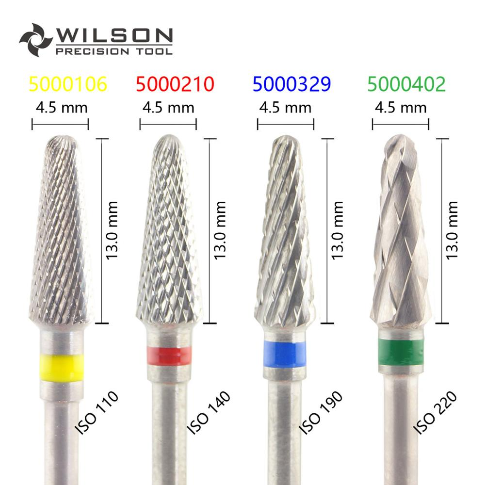 Conical Shape ISO 200 045 - Cross Cut - HP WILSON Tungsten Carbide Dental Lab Burs 5000106 5000210 5000329 5000402