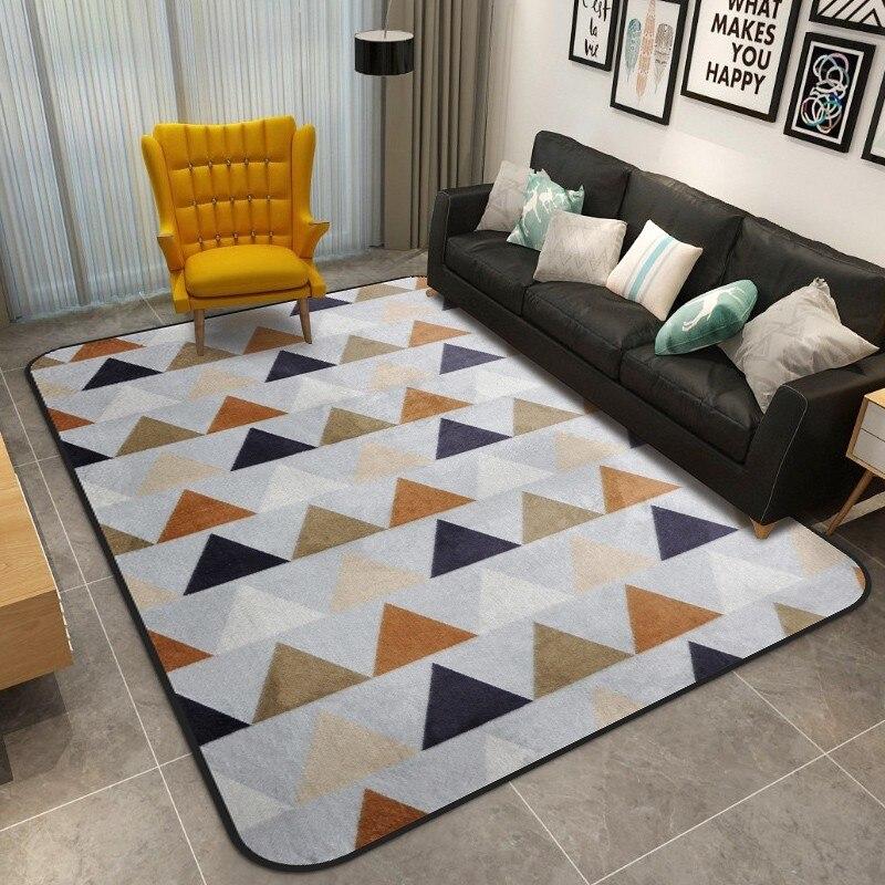 Tapis géométriques nordiques salon chambre étude chevet tapis moderne décor vitrine Rectangle tapis ménage Yoga couverture tapis - 5