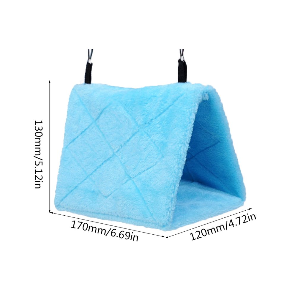 Parrots through winter nest Bird nest bird nest hammock Autumn and winter warm cotton nests Removable triangle bed in Bird Cages Nests from Home Garden