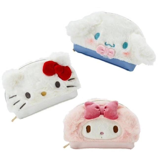 Cute Hello Kitty My Melody Cinnamoroll Pudding Dog Plush Backpack Soft  Shoulder Bags Women Handbag Cosmetic 08346962080cd