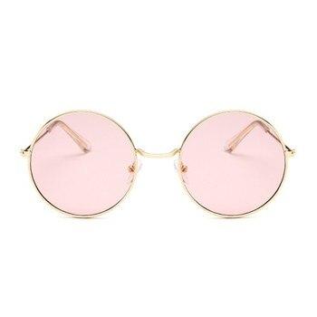 2019 Retro Round Pink Sunglasses Women Brand Designer Sun Glasses For Women Alloy Mirror Female Oculos De Sol Black