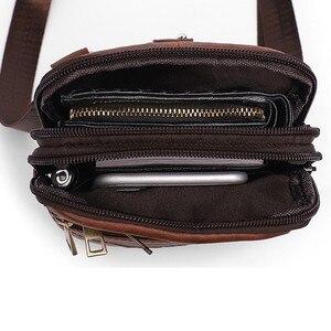 Image 5 - Retro Erkek askılı çanta Hakiki Deri Küçük klasik postacı çantaları Erkekler Için Deri Çanta Erkek omuzdan askili çanta Lüks Tasarımcı