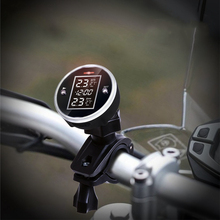 New Motorcycle Wireless TPMS Universal Tire Pressure Monitoring System Real-time Display Safety Cycling
