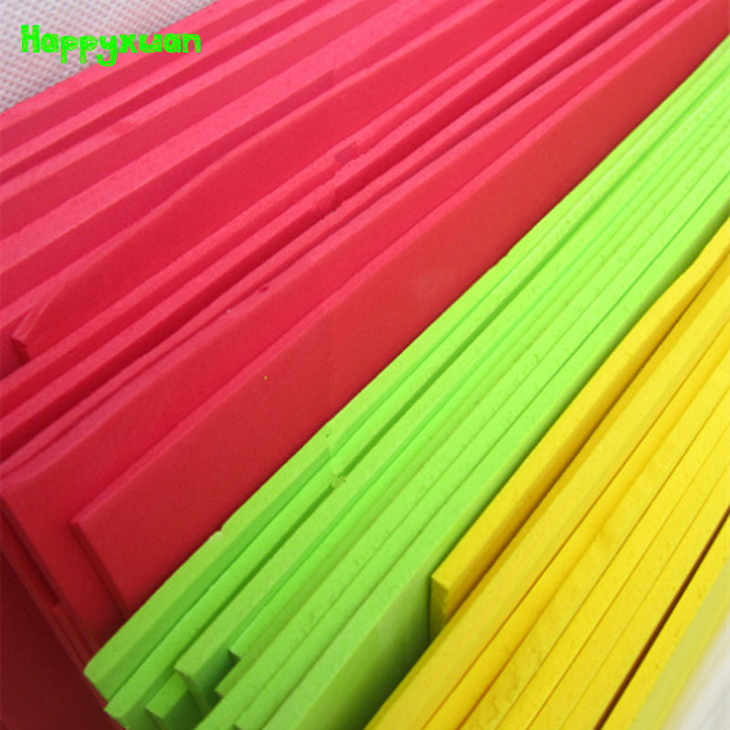 Happyxuan 5 Pcs/lot 49*47cm 3mm EVA Foam Sheet Cosplay White Black Blue Purple Color Sponge Paper DIY Craft Materials Colorful