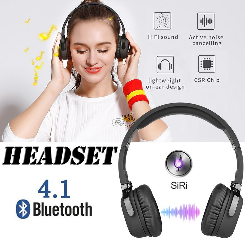 Image 5 - Portable Headphones Wireless Bluetooth Headset Stereo Hd Sounds Surround Devices With Mic Hands free Call For PC TV Mobile Phone-in Bluetooth Earphones & Headphones from Consumer Electronics