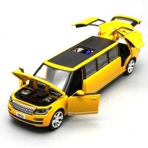 Image 5 - 1:32 Alloy ยืดลีมูซีน Diecast รถยนต์รุ่นของเล่นดึงกลับเสียงแสงเด็กของเล่นสำหรับของขวัญเด็ก