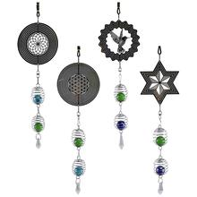 DIY Symmetry Retro Rotating Wind Chime Creative Features Novelty Metal Ornaments Hanging Crafts Home Decoration Supplies