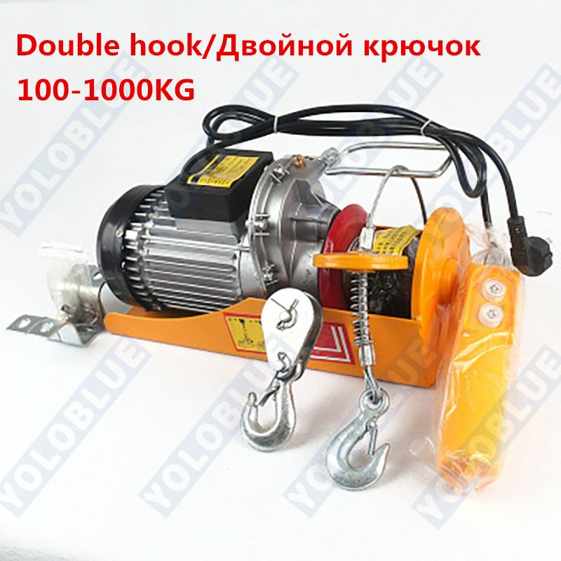 100/200/300kg 12-30m 220V Electric Cable Hoist Lifting Wire Hanging Crane Electric Lifting Crane Durable Steel Cable Hoist