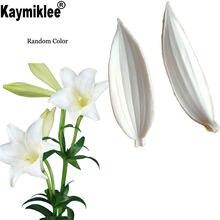 Силиконовые формы для помадки в виде листьев лилии инструменты