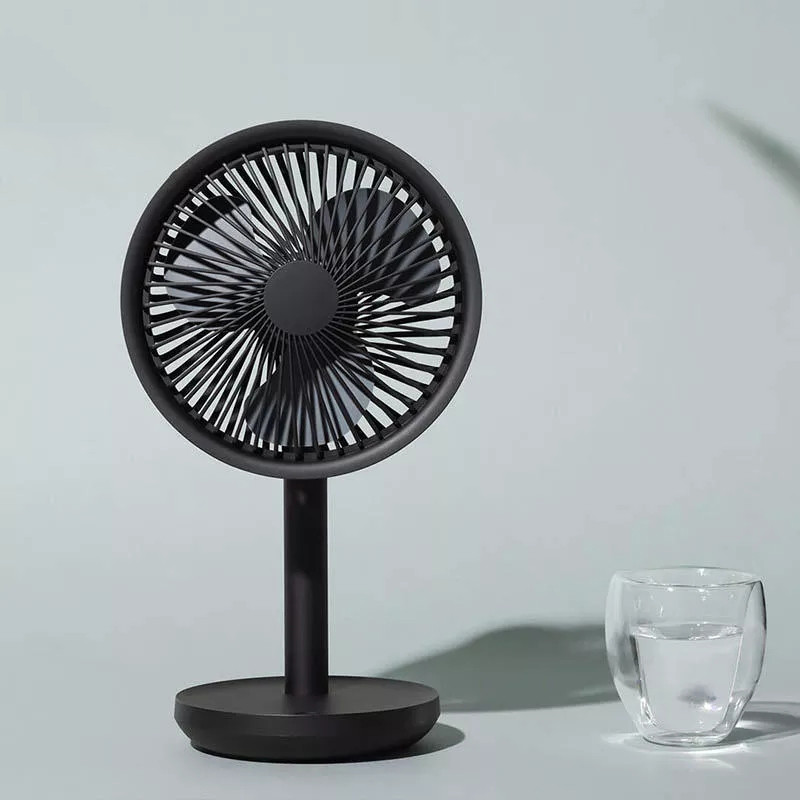 Youpin solove 5 w usb ventilador de mesa 4000 mah usb recarregável 3 modos velocidade do vento ventilador oscilante refrigeração preto/rosa/branco