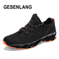 Men's Blade Sneakers Big Size Running Shoes 2019 Spring Breathable Sport Shoes Man Anti Skid Outdoor Tourism Trail Walking Shoes