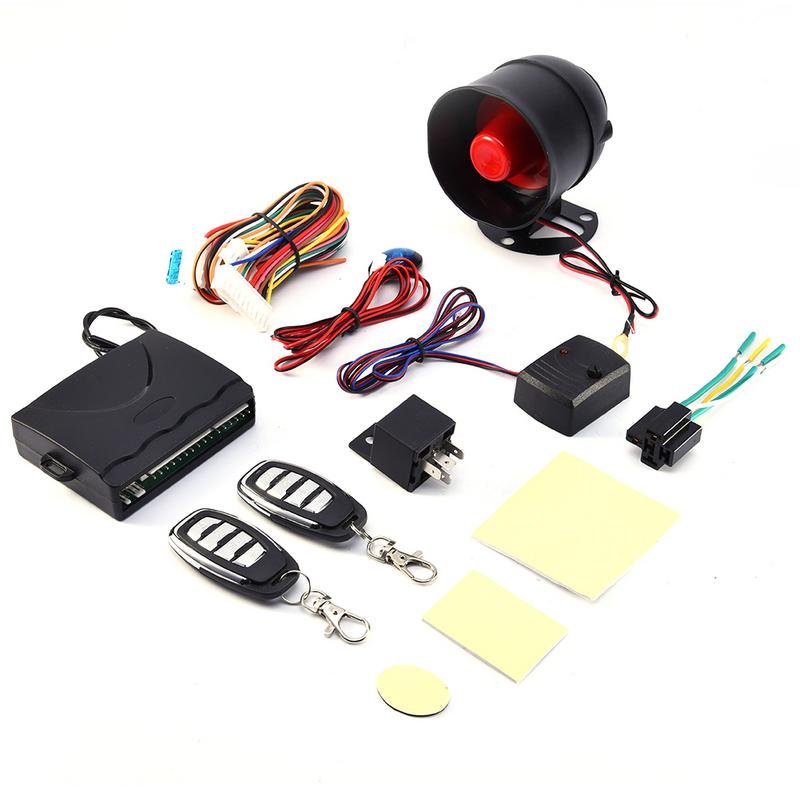 Universal Car Security Alarm System Universal 12V car anti-theft system 1 way car alarm security system with 2 Remote Control