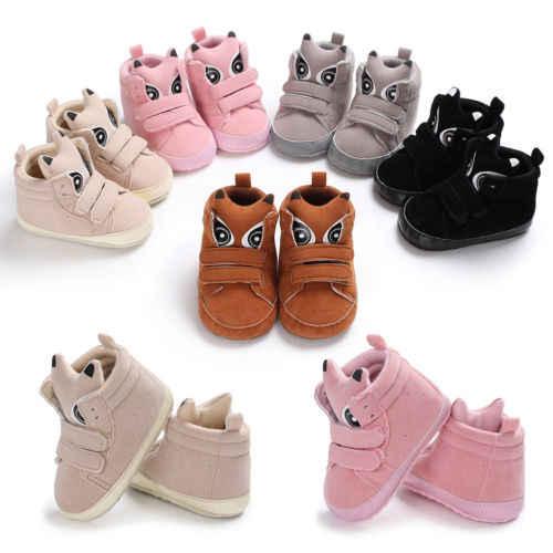 แฟชั่นเด็กทารกเด็กวัยหัดเดินเด็กสาวรองเท้ารองเท้าผ้าใบทารกแรกเกิด 18 เดือนการ์ตูนน่ารักฤดูหนาว