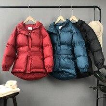 Mooirue 2018 осень зима Harajuku повседневное уличная пальто куртка корейский утолщение О образным вырезом печати Свободные хлопковая верхняя одежда