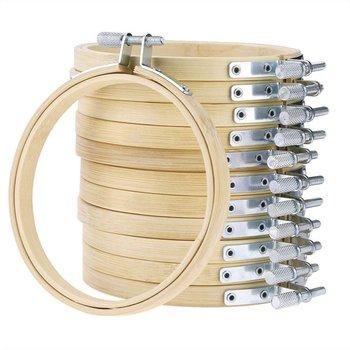 1Pc bambusowy krzyż tamborek s okrągły haft obręcze regulowane bambusowe koło krzyż tamborek drewniane zestawy sztuka i rękodzieło do szycia tanie i dobre opinie Stałe Dwustronnie haft Chiński styl Embroidery Hoops Bamboo B067411