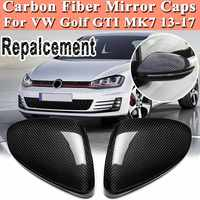 Real Carbon Fiber Rearview Door Side View Mirror Car Wing Mirror Replacement Cover Caps for VW Golf GTI MK7 2013 17