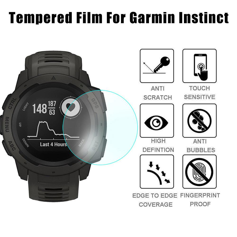 Smart Watch Screen Protector Scratch Resistant Tempered Glass Screen Protector For Garmin Instinct Anti-foam Film