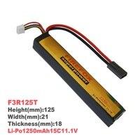 1pcs 100% Orginal FireFox 11.1V 1250mAh 15C Li Po AEG Airsoft Battery F3R125T Rechargeable Batteries