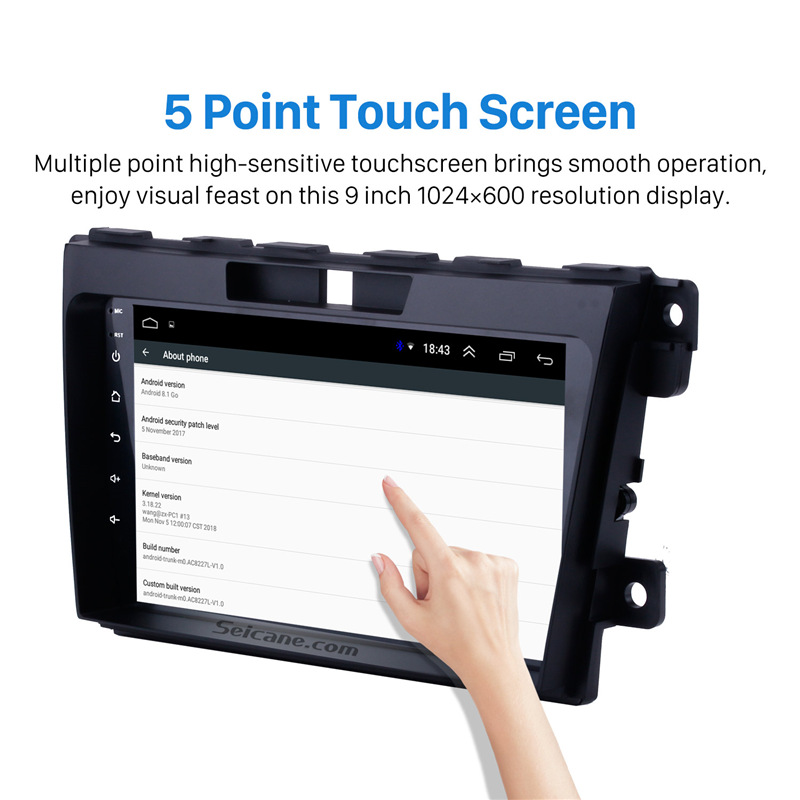Seicane For 2007 2009 2010 2011 2012 2013 2014 MAZDA CX-7 2Din Car GPS Radio Android 8.1 9 inch Multimedia Player Support DVR