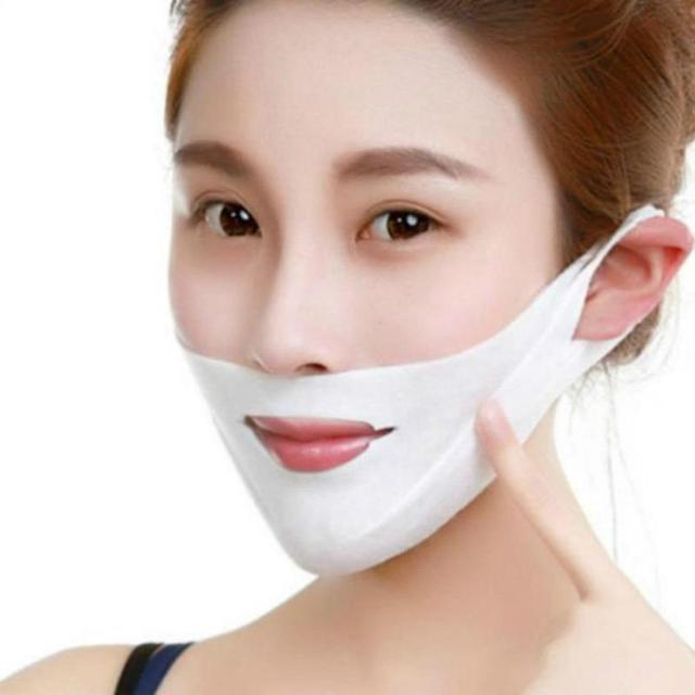 1pcs 4D Double V-shaped Facial Mask Tension Firming Mask Face Slimming Lifting Thin Mask Beauty Face Care Tool 5
