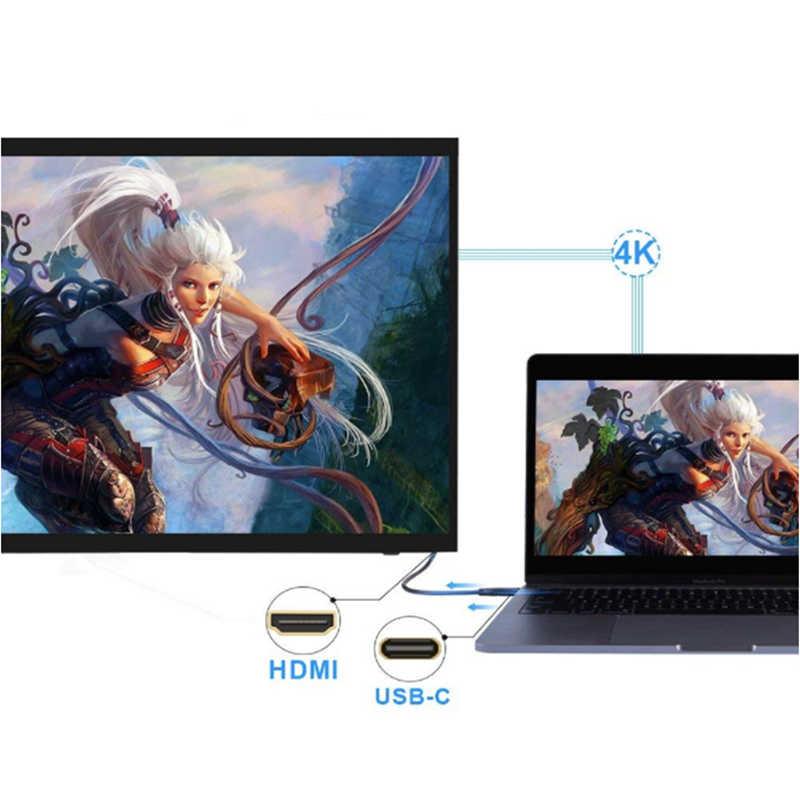 Trumsoon USB 3.1 نوع C إلى HDMI كابل محول 4K 2K 1080P تحويل خط ل ماك بوك Chromebook HDTV سامسونج S8 هواوي P20