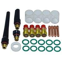 HLZS-TIG короткая газовая линза #10 Pyrex комплект чашек DB SR WP 17 18 26 TIG сварочный фонарь 26 шт
